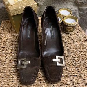 Sergio Rossi. Dark Brown shoes.
